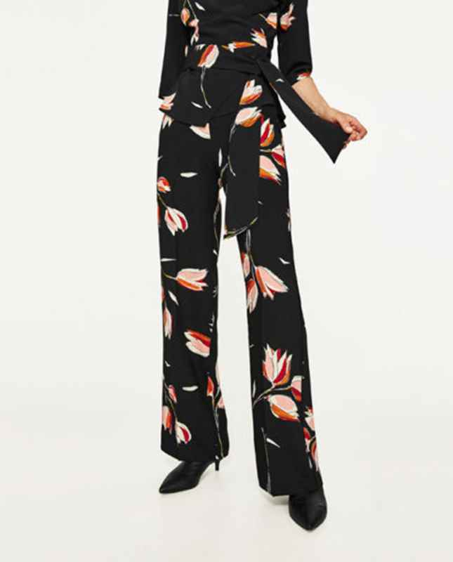 If you are after something a bit more special then The Outnet has these Saloni  Fifi Silk Printed Wide Leg Trousers £145 (reduced from £290).
