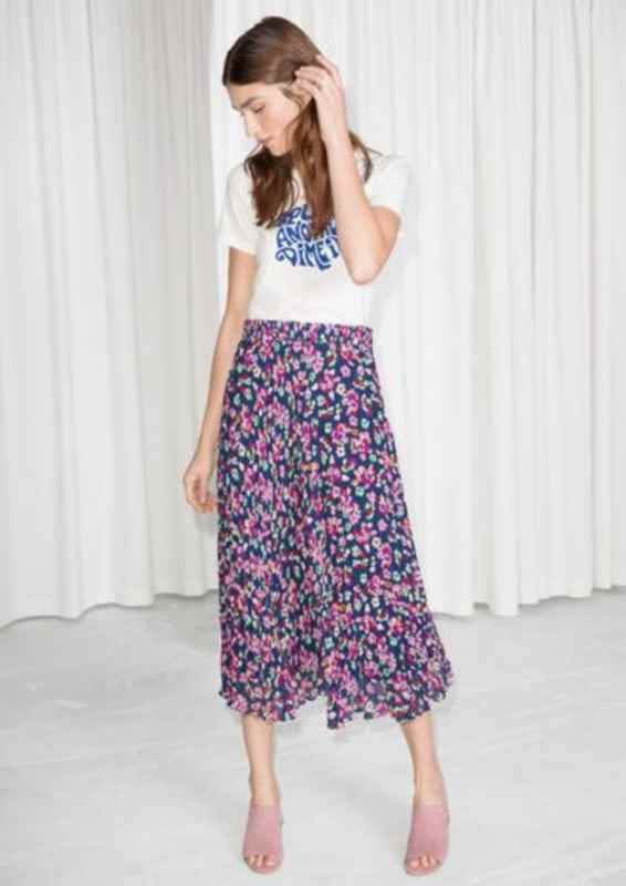 11c43a82c5 And this Floral Midi Skirt £45. As with the Hush options swap the tee for a  nice sweater and boots and you are set. Or for a real fashion look go for a  ...